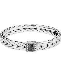 John Hardy - Men's Modern Chain Bracelet With Black Sapphire - Lyst