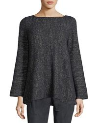 Lafayette 148 New York - Bateau-neck Cashmere-blend A-line Sweater - Lyst