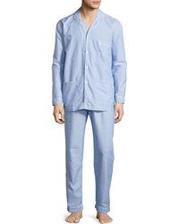 Neiman Marcus - Dot-print Cotton Pajama Set - Lyst