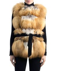 Gorski - Belted Fox Fur Vest - Lyst