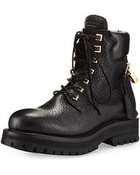 Buscemi - Site Leather Lace-up Hiking Boot - Lyst
