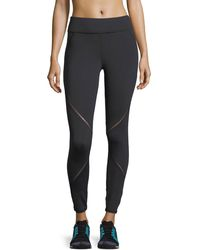Michi - Axial Full-length Performance Leggings With Ladder Trim - Lyst