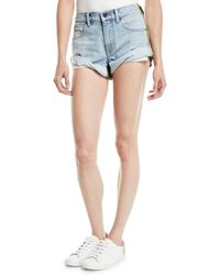 T By Alexander Wang - Hikie Mix Hybrid Denim & Twill Low-rise Shorts - Lyst