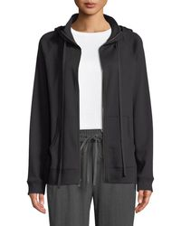 Eileen Fisher - Hooded Cotton-interlock Zip-front Jacket - Lyst