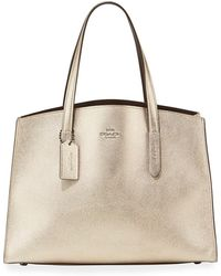 COACH - Charlie Metallic Carryall Shoulder Bag - Lyst