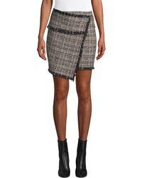 IRO - Passionate Tweed Fringe Short Skirt - Lyst