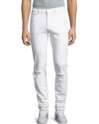 Givenchy | Rico-fit Destroyed Denim Jeans | Lyst
