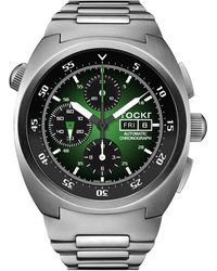 Tockr Men's 45mm Air Defender Chronograph Stainless Steel Watch - Multicolor
