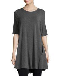Eileen Fisher - Half-sleeve Jersey Tunic - Lyst