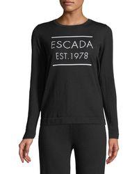 ESCADA - Est. 1978 Long-sleeve Wool Pullover - Lyst
