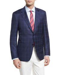 Canali | Double-windowpane Wool Two-button Sport Coat | Lyst