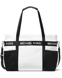 37ba046d4dff65 Lyst - Michael Kors Michael Bridgette Medium East West Tote in Black