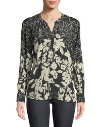 0c3877b79ecef4 Tolani - Everly Long-sleeve Floral-print Silk Blouse - Lyst