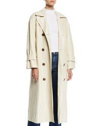 Rejina Pyo - Oli Crinkle Long Trench Coat - Lyst