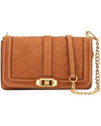 Rebecca Minkoff | Love Quilted Nubuck Crossbody Bag | Lyst