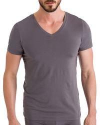 Hanro - Cotton Superior V-neck T-shirt - Lyst