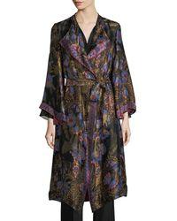 Etro - Floral Jacquard Kimono Coat - Lyst