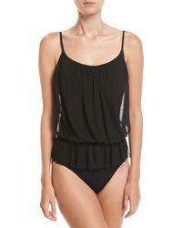 Gottex - Lattice Bandeau Blouson One-piece Swimsuit - Lyst