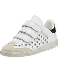 Isabel Marant - Beth Studded Grip-strap Sneaker - Lyst