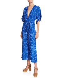 91a94acf6a9 Faithfull The Brand - La Villa Tie-detailed Ruffled Floral-print Crepe  Jumpsuit -