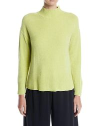 Joan Vass - Mock-neck Chenille Pullover Sweater - Lyst