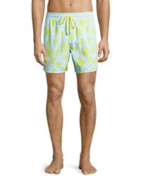 Vilebrequin - Moorea Flocked Turtle Swim Trunks - Lyst