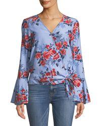 Parker - Isabella Floral Silk Blouse - Lyst