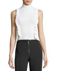 Cinq À Sept - Eleanor Sleeveless Turtleneck Rib-knit Top - Lyst