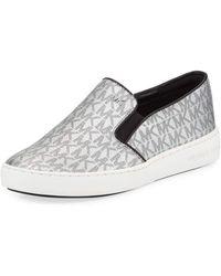 00503e8b00b90 Lyst - Michael Kors Michael Boerum Studded Sneakers in Black