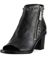 Frye - Brielle Rebel Zip Stud Bootie - Lyst