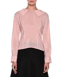 Marni - Long-sleeve Zip-back Silk Blouse - Lyst