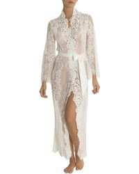 Jonquil - Jasmine Floral-lace Long Robe - Lyst