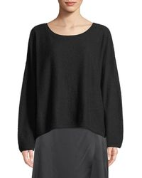 Vince - Boiled Cashmere Scoop-neck Sweater - Lyst