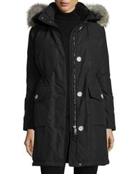 Woolrich - Long Hooded Arctic Parka Coat W/ Coyote Fur - Lyst