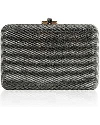 6d714a492397 Judith Leiber Wildcat Snow Leopard Crystal-embellished Evening Clutch Bag  Silver in Metallic - Lyst
