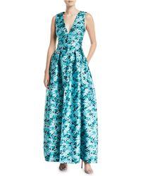 Sachin & Babi - Brooke Floral Gown W/ Pockets - Lyst