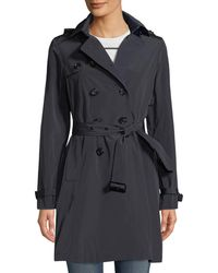 Jane Post - Belted Tech-fabric Trenchcoat - Lyst