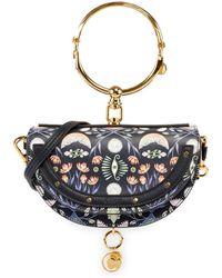 Chloé - Nile Artistic Print Minaudiere Clutch Bag With Bangle Handle - Lyst