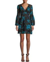 Nanette Lepore - Aerial Blouson-sleeve Floral Lace Mini Dress - Lyst