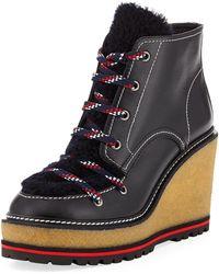 Moncler - Zelie Wedge Platform Boot - Lyst