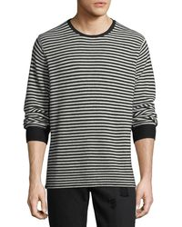 Ovadia And Sons - Striped-knit Wool Sweater - Lyst