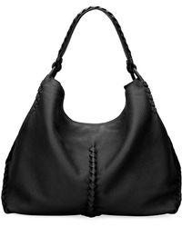 bff12302cc77a Bottega Veneta - Medium Deerskin Leather Hobo Bag - Lyst