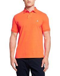 Ralph Lauren - Men's Logo-embroidered Polo Shirt Orange - Lyst