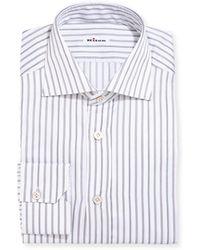 Kiton   Multi-stripe Cotton Dress Shirt   Lyst