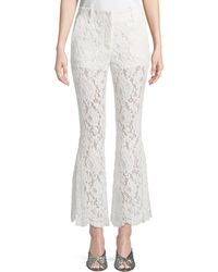 Proenza Schouler - Cropped Flared Lace Pants - Lyst