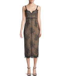 Cinq À Sept - Tate V-neck Sleeveless Lace Dress - Lyst