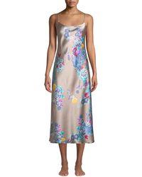 Natori - Angkor Floral-print Silk Nightgown - Lyst