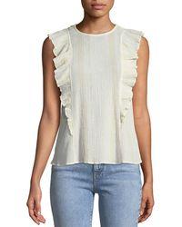 M.i.h Jeans - Hardin Sleeveless Frill Top - Lyst