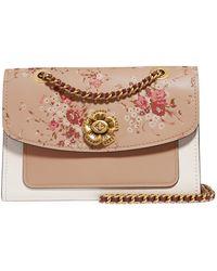 COACH - Parker Floral-print Leather Shoulder Bag - Lyst