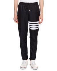 Thom Browne - 4-bar Striped Track Pants - Lyst